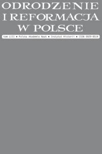 Okładka publikacji 'Odrodzenie i Reformacja w Polsce 53'