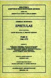 Okładka publikacji 'Epistulae, pars II (1568–1573)'