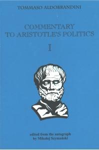 "Okładka publikacji 'Commentary to Aristotle's ""Politics""'"