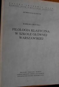 Okładka publikacji 'Filologia klasyczna w Szkole Głównej Warszawskiej'