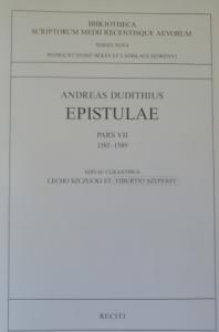ANDREAS DUDITHIUS EPISTULAE VII 1581-1589