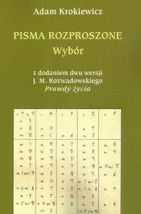 Okładka publikacji 'Pisma rozproszone. Wybór (z dodaniem dwu wersji J.M. Rozwadowskiego
