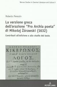 Okładka publikacji 'La versione greca dell'orazione